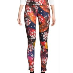 Free People multicolored Liza yoga pants